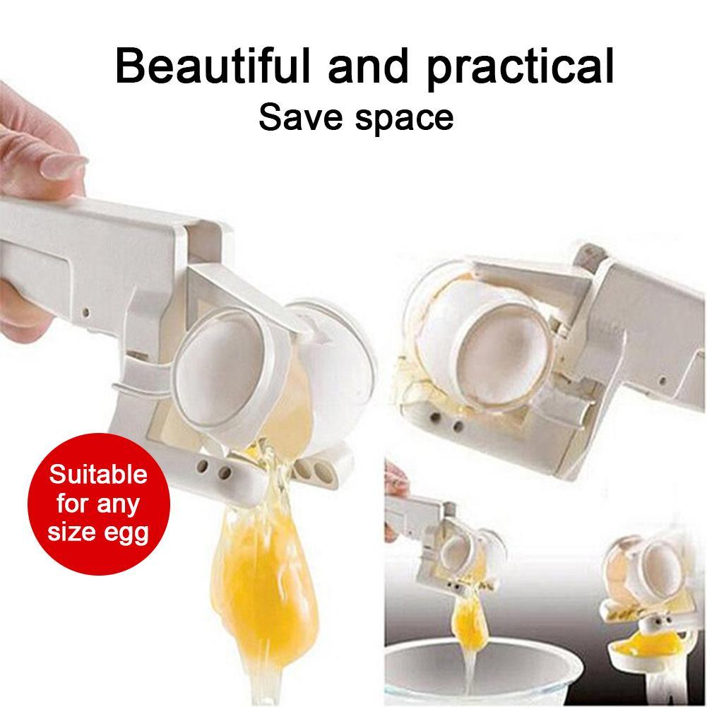 Creativity Egg Shell Cracker Easy Separator Handheld Egg Opener Egg Breaker Kitchen Gadget Tool With Safe Quick Separation Eggs