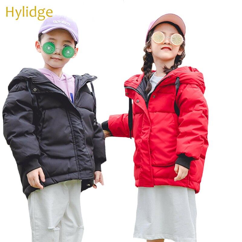 Hylidge Classic Children Down Jacket Kids Snowsuits invierno ropa rusa niños niñas engrosamiento abrigo chaqueta con capucha