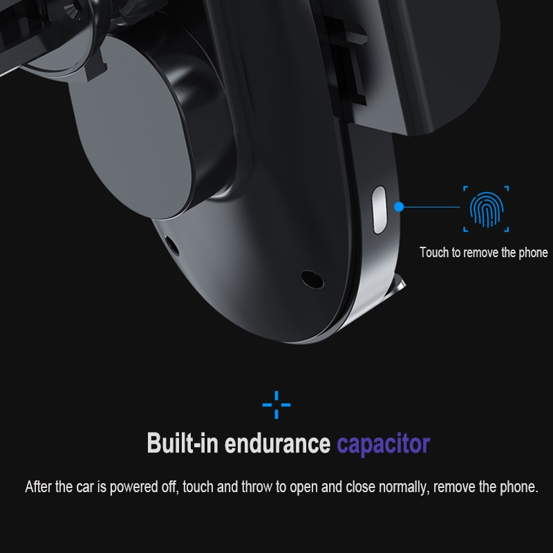15W Wireless Charger Car Phone Holder  Induction Sensor Fast Charging Stand Mount For Samsung Huawei iPhone 11 Pro Max enlarge