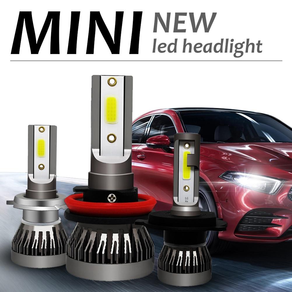 Светодиодный головной светильник лампы для фар светильник 6000LM 36W 6000K 12V авто лампа без радио Шум автомобильные аксессуары H7 светодиодный H4 H8 ...