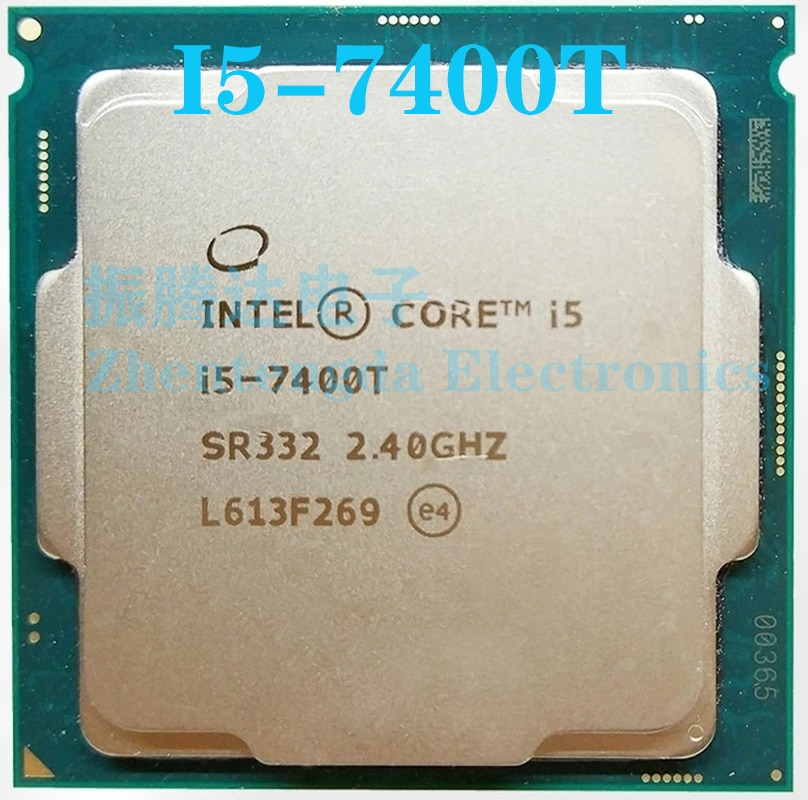 Intel Core i5 7400T CPU 2.4GHz 6MB 4 Core 4 Thread LGA 1151 i5-7400T CPU Processor