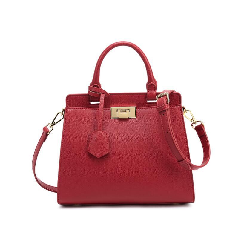 حقيبة يد فاخرة على الطراز الأوروبي الأمريكي للنساء ، حقيبة كتف من الجلد الطبيعي ، عصرية ، مجموعة جديدة 2021