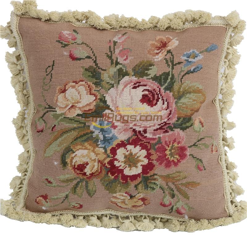 Nadel kissen abdeckung 40*40 Sofa Stickerei Dekorative H Woven woolen Variiert aubusson