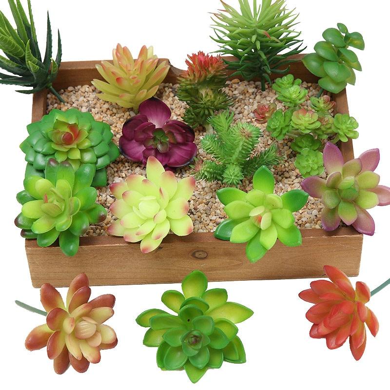 2021 Artificial Succulents Plants Home Decor Mini Bonsai Garden Bedroom Wedding Decoration plantas artificiales para decoracion