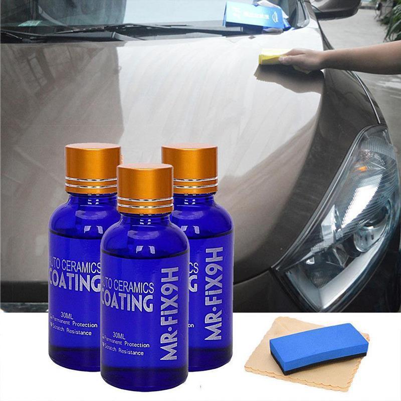 30ml Car Wash Maintenance Paint Care 9H Anti-scratch Car Liquid Ceramic Coat Super Hydrophobic Glass Nano Coating Polish Kit Car