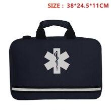 Azul Marino Cruz rescate Kit de primeros auxilios bolsa chaleco cintura bolsa deportes al aire libre Camping hogar médico emergencia supervivencia equipo