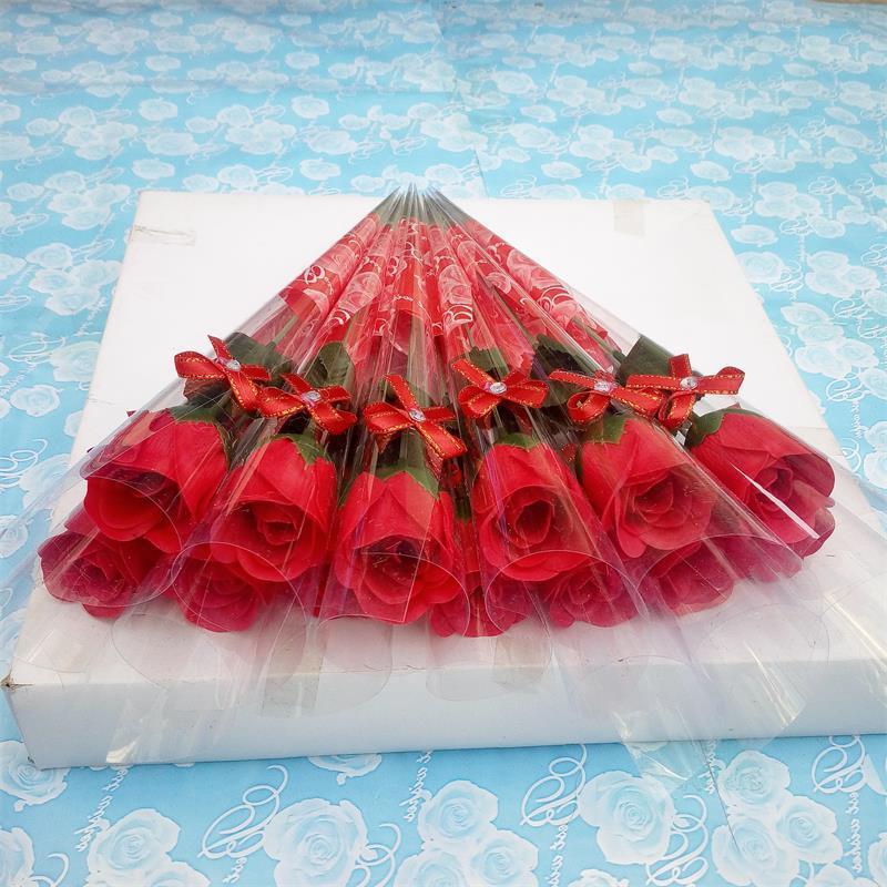 صابون حمام برائحة الورد الاصطناعي ، جذع واحد ، زهور ، للزفاف ، عيد الحب ، عيد الحب ، عيد الأم ، هدية المعلم ، الديكور