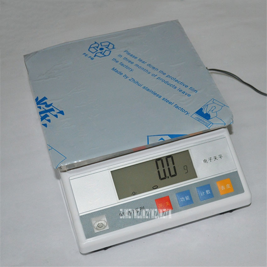 Nueva escala electrónica de precisión 457A 10kg balanza electrónica Industrial de cocina con pantalla Digital 10000g/0,1g peso 100-240V