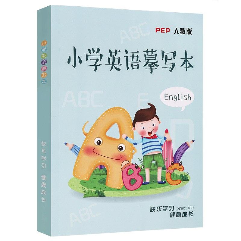 1 Uds. Cuaderno chino e inglés para caligrafía niños adultos inglés redondo fuente de entrenamiento cuaderno 3D Groove puede ser reutilizado