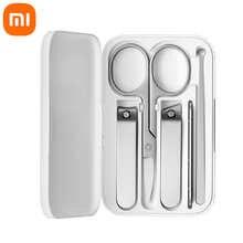 Машинка для стрижки ногтей Xiaomi Mijia 5 в 1, набор из нержавеющей стали, триммер, Машинка для педикюра, ухочистка, пилка для ногтей, профессиональ...