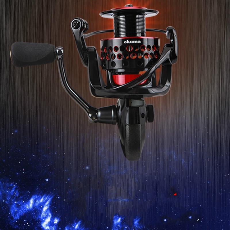 Okuma Fishing Spinning Reel Saltwater 10000s Fishing Reel Carp Fishing Reels 5.0:1 7+1 BB Rock Fishing Reel Spinning Reels Wheel enlarge