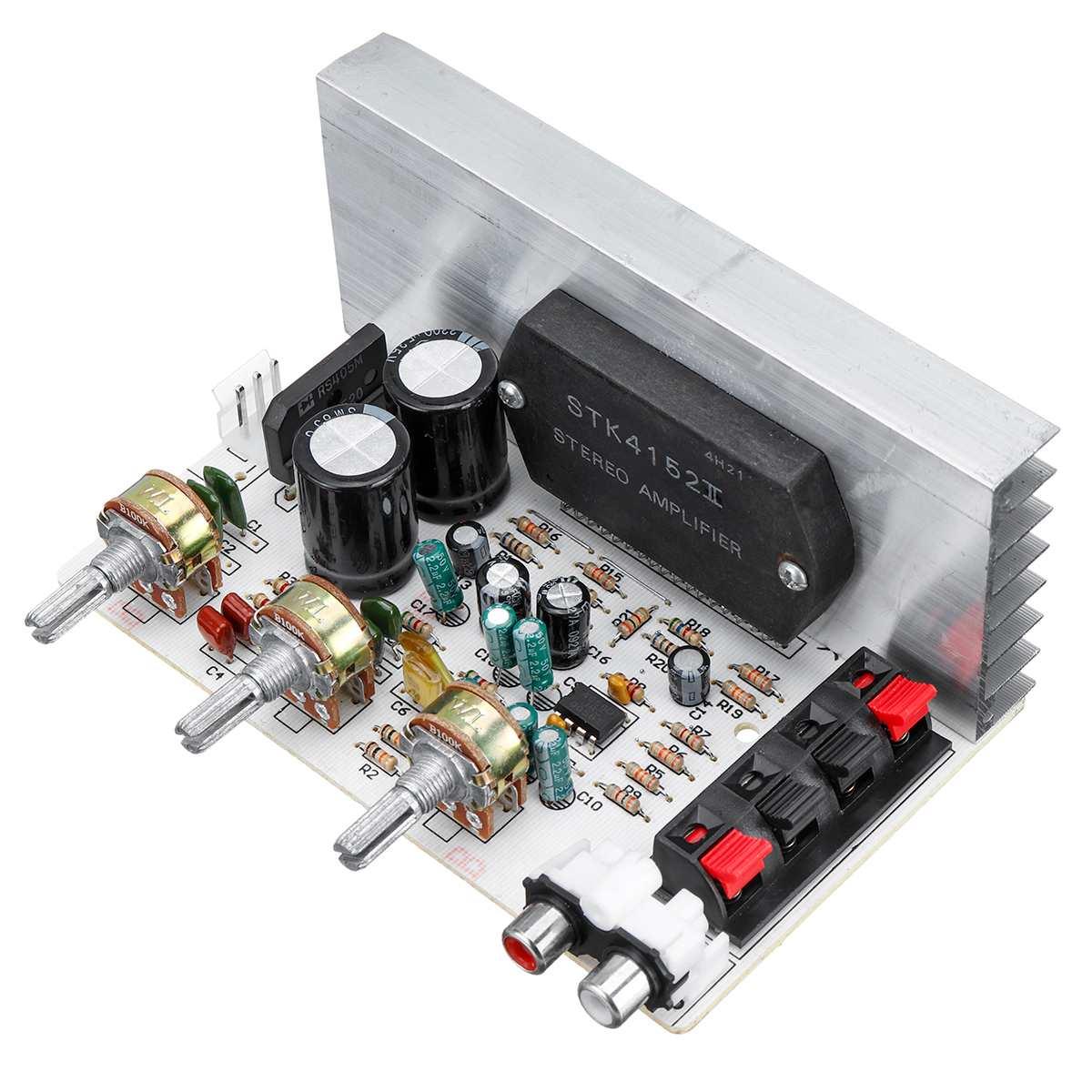 Placa amplificadora de 50W + 50W STK4132 DX-0408 placa amplificadora serie de película gruesa STK de 2,0 canales 10 HZ-20 KHZ doble AC15-18V alta potencia