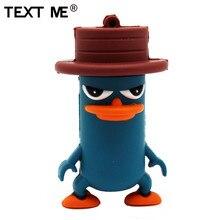 Texte moi nouveau dessin animé usb2.0 4GB 8GB 16GB 32GB 64GB chapeau canard clé USB clé USB clé USB créative