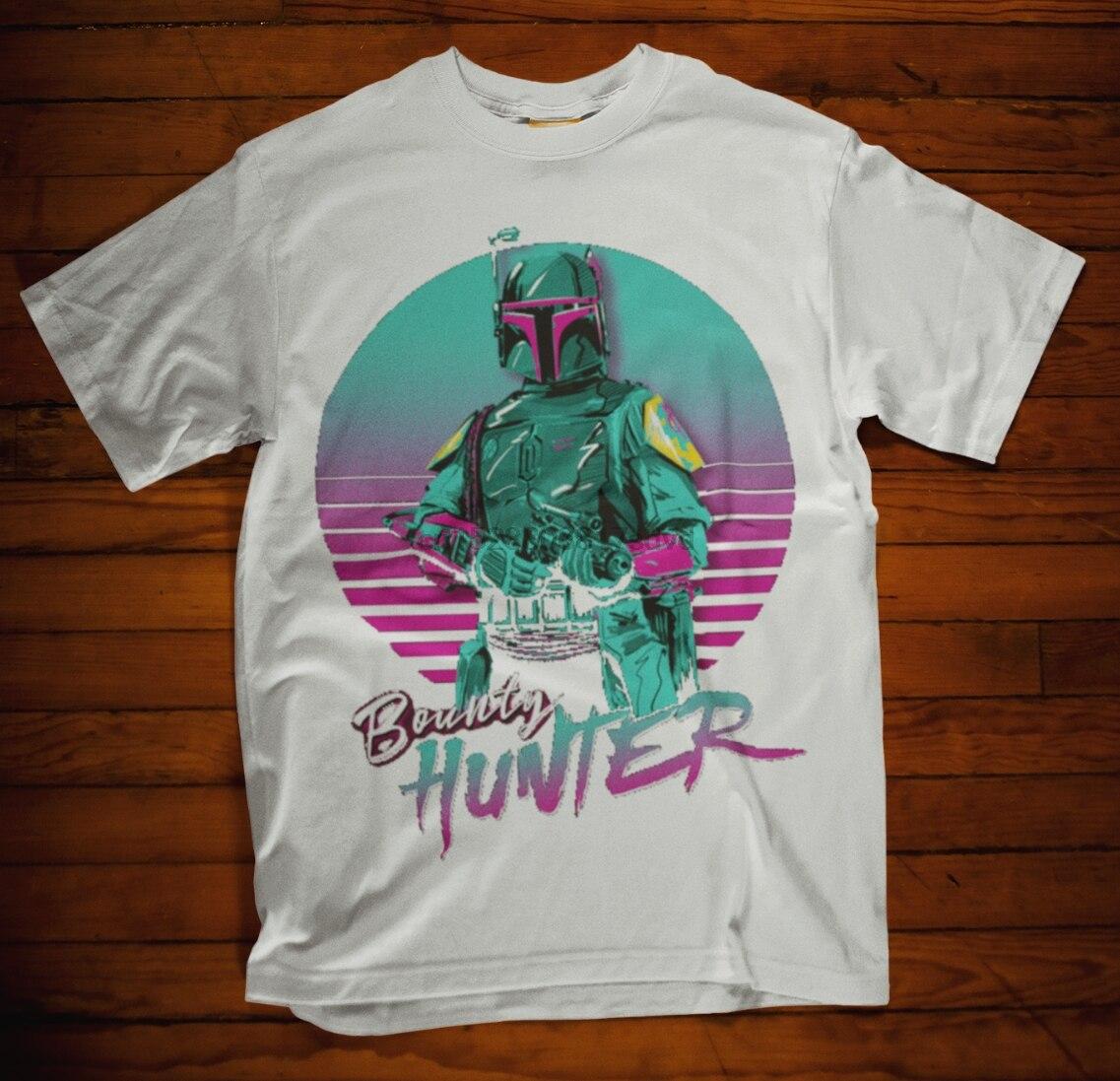 Bobba Fett t-shirtharajuku Streetwear camisa Menbounty Hunter película Retro sinvergüenzas scrugler (1)