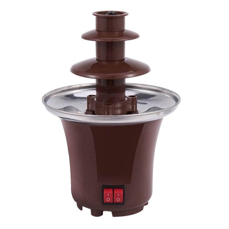 نافورة شوكولاتة صغيرة جديدة ثلاث طبقات تذوب الشوكولاته الإبداعية مع آلة فوندو التدفئة لتقوم بها بنفسك تذوب شلال وعاء ذوبان Towe