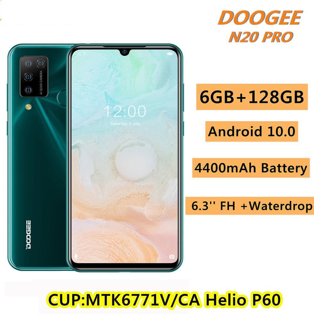 Перейти на Алиэкспресс и купить Смартфон DOOGEE N20 Pro, 6,3 дюйма, FHD + дисплей, Android 10, глобальная версия, четырёхъядерная камера, 4400 мАч, 6 ГБ ОЗУ, 128 Гб ПЗУ