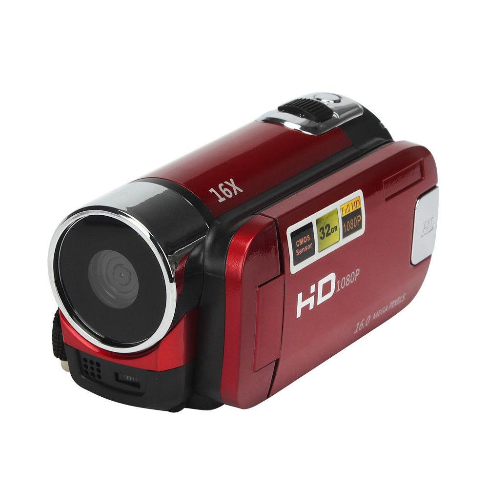 Full HD 1080P Video Camera Professional Digital Camcorder 2.7 Inches 16MP High Definition ABS FHD DV