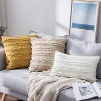 cotton linen cushion cover nordic decorative pillows for sofa living room 18x18 boho style pillow cover home decor pilowcase