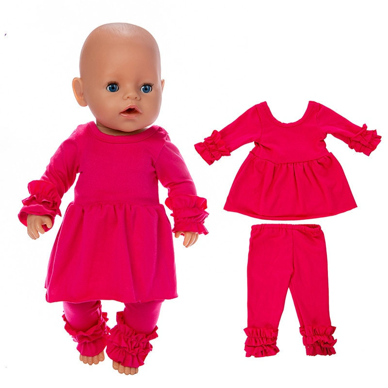 Fit 17 inch American OG Girl Doll Clothes 43cm Meihong Two Piece Jacket, Trousers Clothes For Baby B