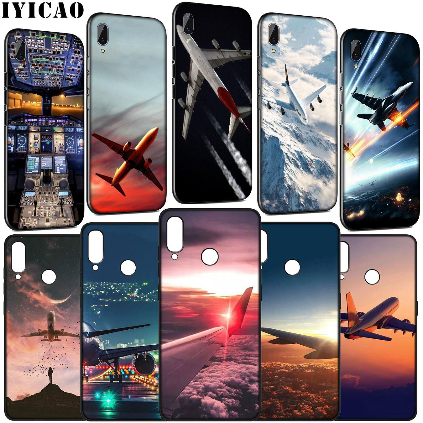 Funda blanda IYICAO para avión, avión para Huawei Y9 Y7 Y6 Prime 2019 Honor 20 10 9x 8C 8X 8 Lite 7C 7X 7A Pro