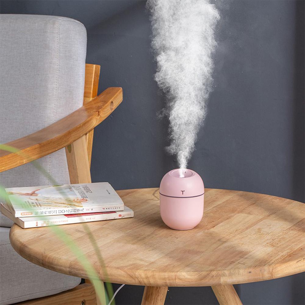 Home Mist USB Humidifier 200ml Water Tank Mini Quiet Bedroom LED Air Humidifier