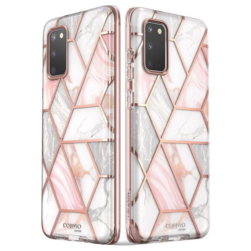Funda I-BLASON Cosmo para Samsung Galaxy S20/funda S20 5G carcasa de mármol brillante sin Protector de pantalla incorporado