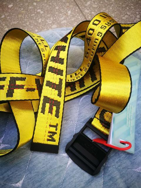2021 New Arrival Belt Mens And Women Fashion Ow Belts Yellow Casual Man Waistband Accept Free Shipping