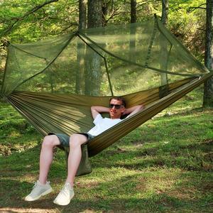 Waterproof Portable Camping Hammock and Tent Awning Rain Fly Tarp Mosquito Net Hammock Nylon Hammocks