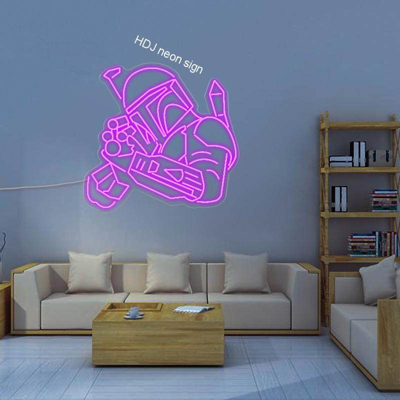 Customized Neon Sign-Future Warrior-LED Personalized Design Sign Billboard For Bar Room Decoration For Christmas Anime Neon