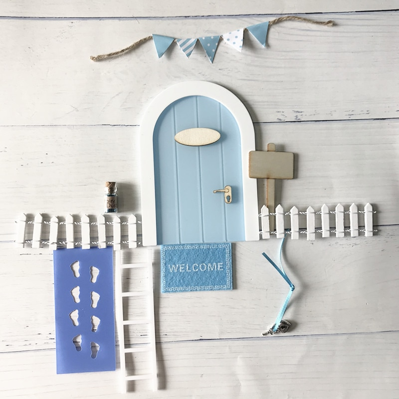 mini-puerta-de-hadas-de-madera-puerta-de-hadas-hecha-a-mano-con-bonito-agujero-con-raton-rosa-puerta-de-madera-en-miniatura-con-banderines-y-poste-de-senal-personalizado