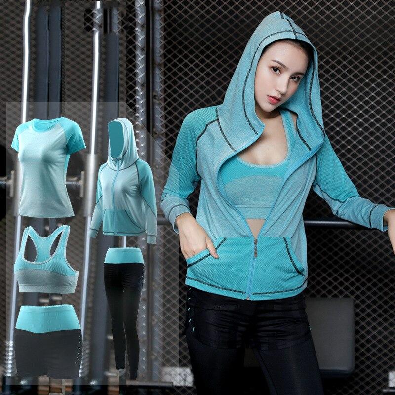 Ropa deportiva para mujer, conjunto de ropa de Yoga, conjunto de gimnasio, traje de Fitness para correr al aire libre, ropa para trotar, entrenamiento, mono de secado rápido