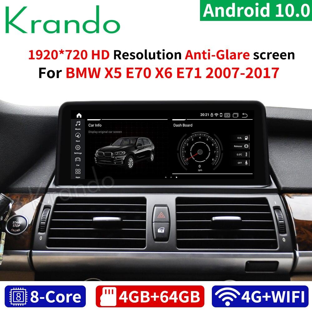 Krando אנדרואיד 10.0 10.25 רכב dvd רדיו נגן ניווט gps עבור BMW X5 E70 F15 X6 E71 2007-2017 מולטימדיה מערכת