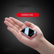 Mini Power Bank 20000mAh USB Charging Portable Charger External Battery Pack For Xiaomi mi 8 iPhone
