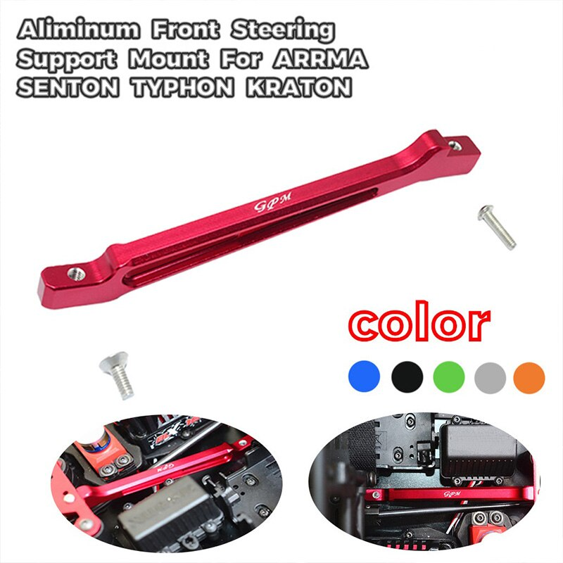 Front Steering Support Mount for ARRMA SENTON TYPHON KRATON RC Car,Red enlarge