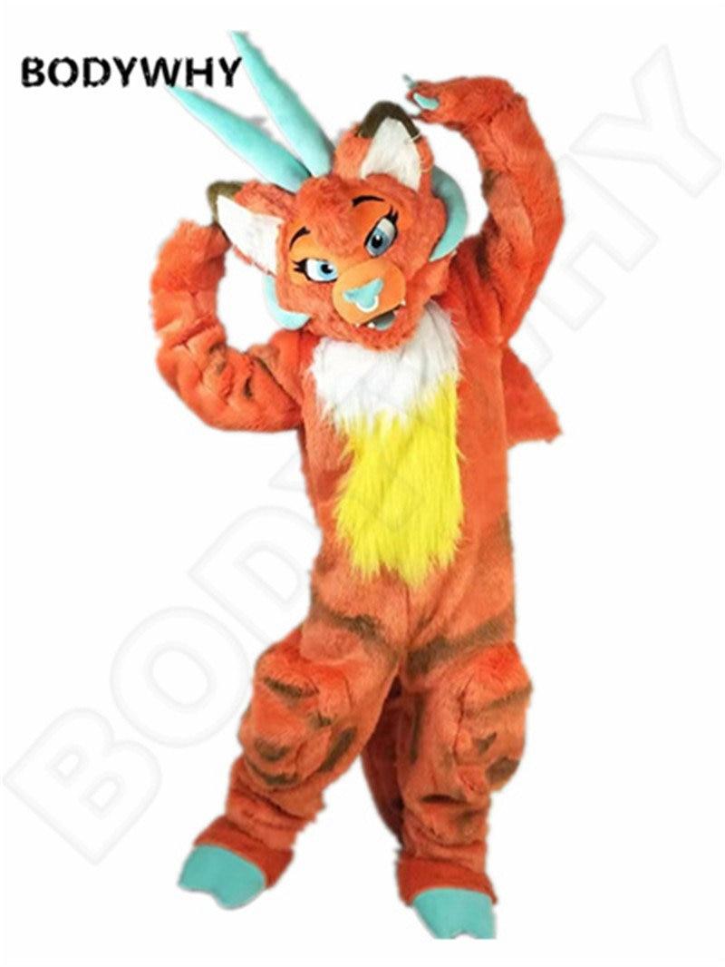 Cosplay Fursuit perro Lobo Husky mascota disfraz fiesta disfraces publicidad Halloween adultos Fursuit desfile de personajes nuevo