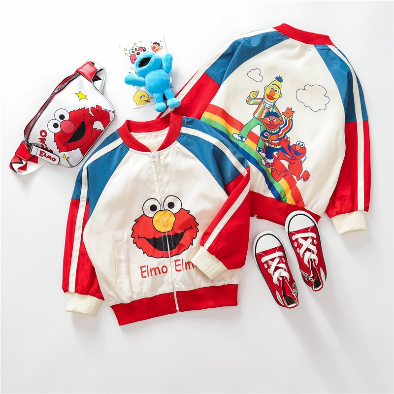 2020 chaquetas de niños para Niñas Ropa de dibujos animados de patrón de bebés chaquetas de béisbol Jersey otoño invierno Niña abrigo niños prendas de vestir exteriores