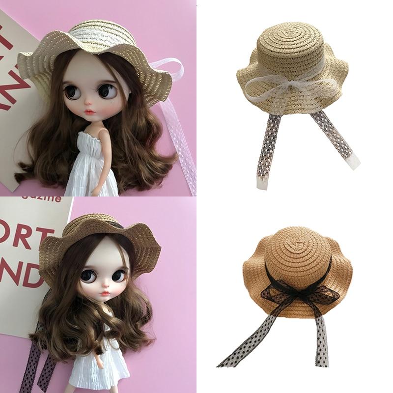DLBell новая стильная соломенная шляпа ручной работы для куклы блайз pullip Licca, Azone 1/6 аксессуары для кукол Куклы      АлиЭкспресс