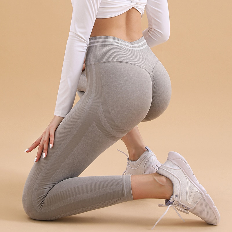 Women High Waist Leggings Fitness Ladies Sexy Bubble Butt Gym Sports Workout Push Up Female Pants Elasticity Activewear Running