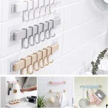 Cuisine étagère murale Rail Pot Pan ustensile couvercle support rangement organisateur adhésif salle de bain pas de forage douche Caddy serviette brosse ^ ^