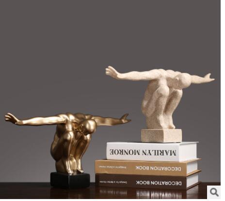 Figura de buzo retro americano modelo mobiliario Sala creativa porche TV gabinete decoración escultura de lujo estatua