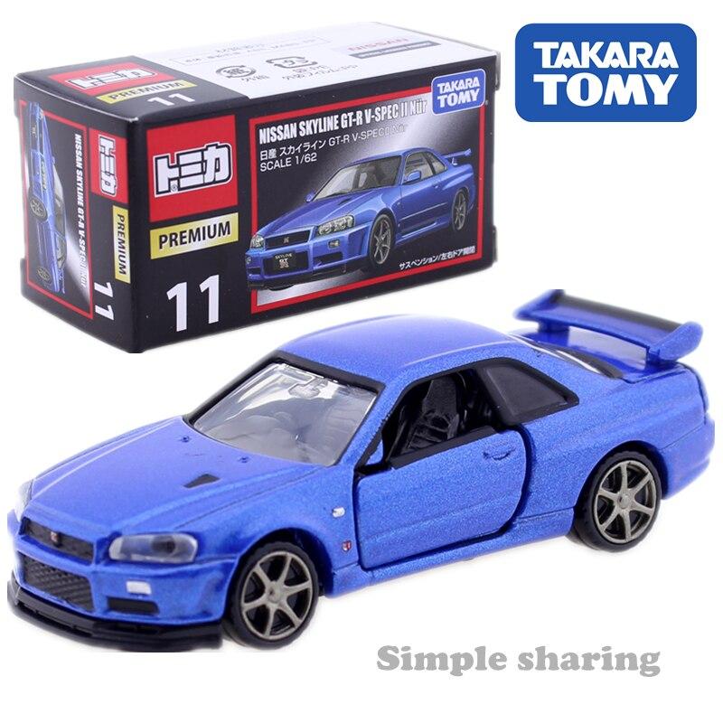 Takara Tomy Tomica Premium No.11 Nissan GTR V SPEC 2 Nur 1:62 miniature Diecast baby toys nissan gtr model kit hot pop kids doll