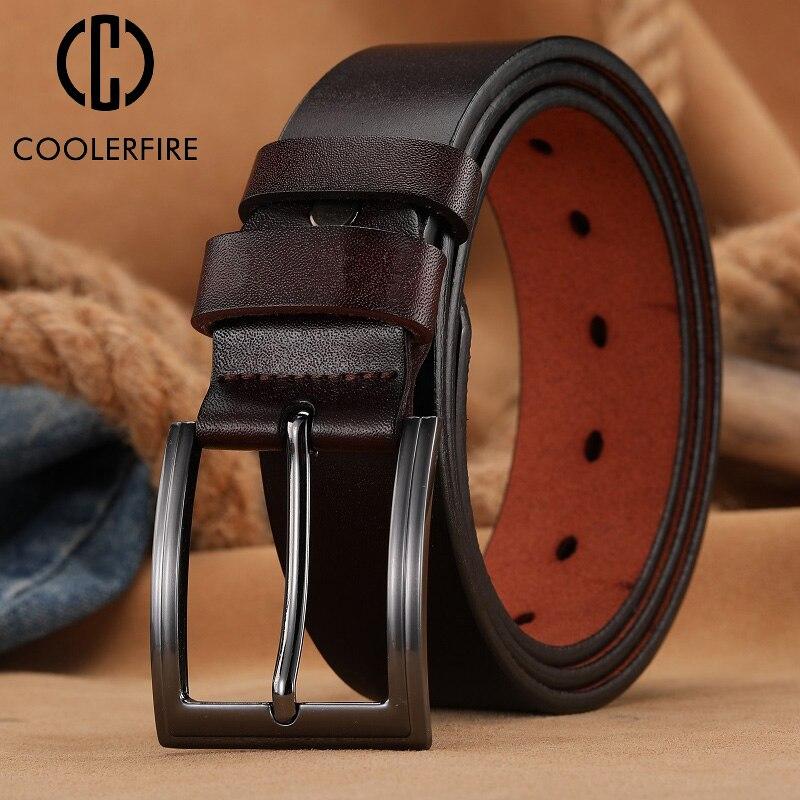 Fashion Men Belt Homme Leather Male Genuine Leather Luxury Pin Buckle Men's Belt Cummerbunds Ceintur