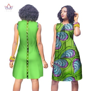 Летнее модное платье в африканском стиле для женщин, платья Bazin Riche, ткань с принтом воска, вечерние платья, сексуальное платье без бретелек д...