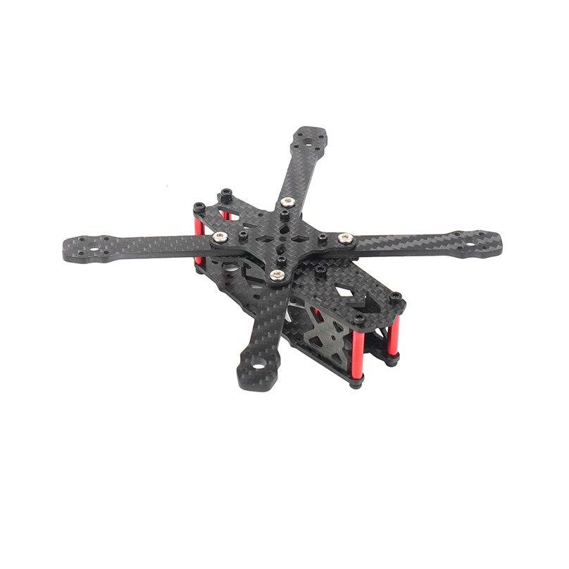 Mini FPV Frame Kit FS135 distancia entre ejes de 135mm de fibra de carbono CF Rack para DIY Dron de carreras con visión en primera persona Quadcopter 3 pulgadas accesorios/1103/1104/1305