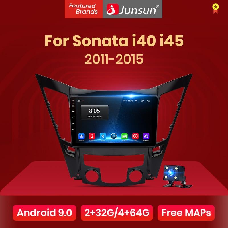 Junsun 2G+32G Android 9.0 For Hyundai Sonata 2011-2015 Car Radio Multimedia Video Player Navigation GPS 2 din dvd No CD Slot