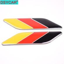 DSYCAR 2 шт./пара 3D металлический Немецкий флаг боковое крыло автомобиля задний багажник эмблема значок для Volkswagen Audi Bmw Mercedes Benz Porsche