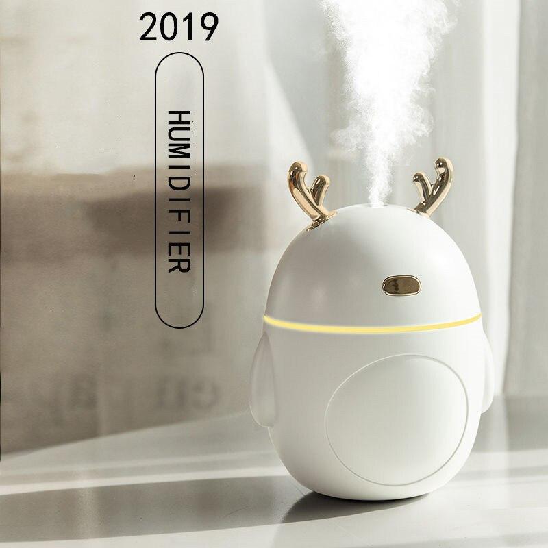 320 мл портативный увлажнитель воздуха с оленем, арома-диффузор эфирных масел, ультразвуковой туман, светодиодный ночник, увлажнитель, Fogger, рождественский подарок