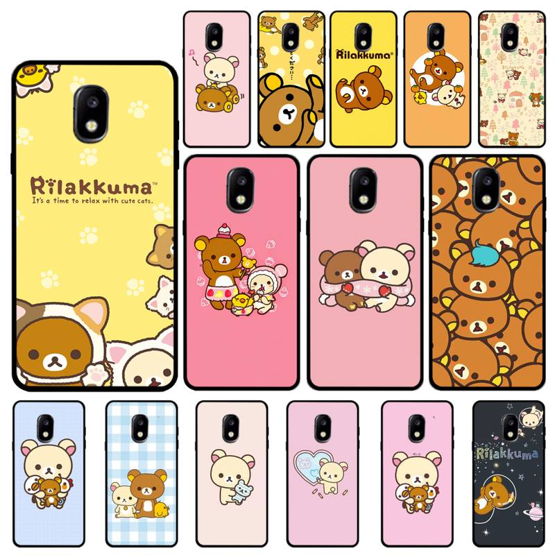 Yinuoda Rilakkuma kawaii Kiiroitori caso de teléfono para Samsung Galaxy J7 J6 J6PLUS J8 J4 J4Plus J7DUO J7NEO J2 J5 J6 J7 primer