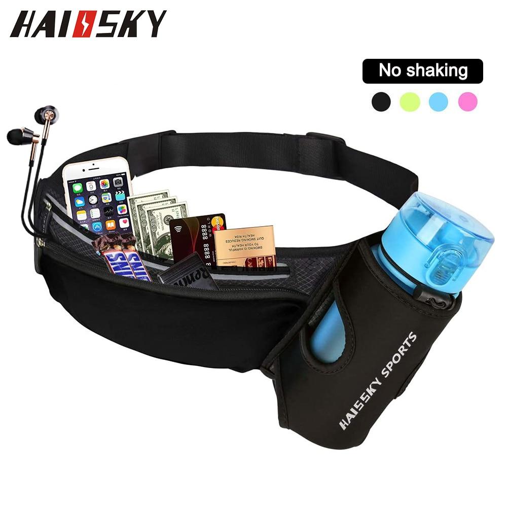 Haissky correndo saco da cintura esportes ginásio pacote de cinto feminino para o telefone unisex trail run jogging fitness pacote garrafa de água