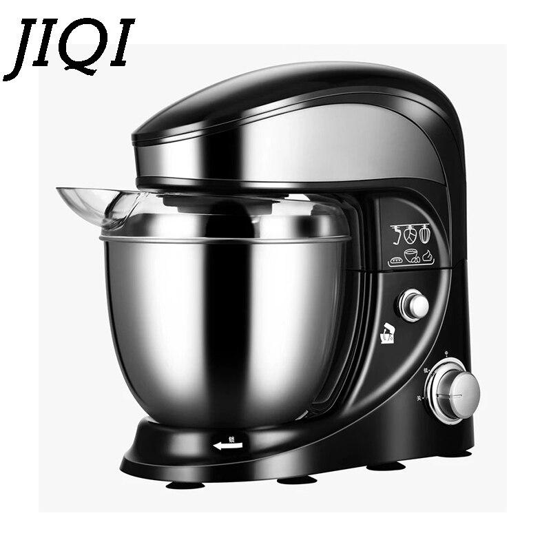 JIQI 4L tazón de acero inoxidable eléctrico alimentos Stand Mixer Chef batidora batidor crema batidor huevo batidora torta masa amasadora máquina